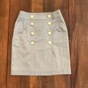Banana Republic Button Front Pencil Skirt